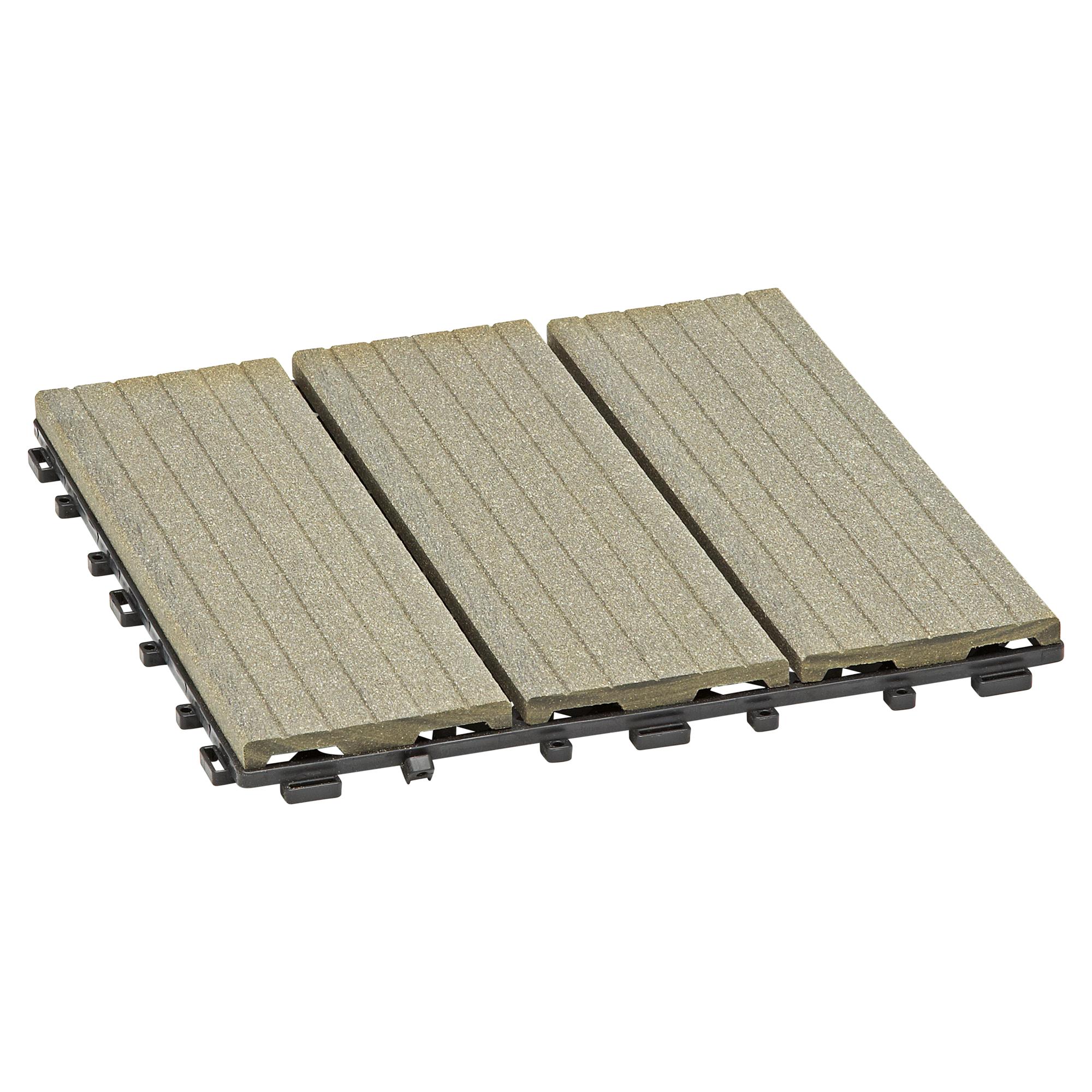 Rettenmeier Outdoor Wood Klickfliese grau 4 Stück ǀ toom