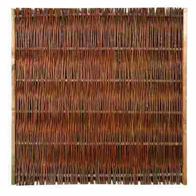 Zaunelement 'Weide' braun 120 x 120 cm