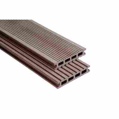 Exklusiv Terrassendiele schokobraun gebürstet 100 cm x 14,5 cm