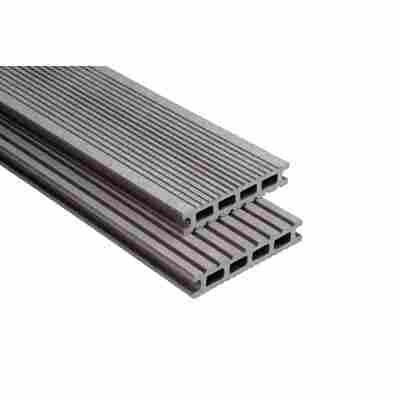 Exklusiv Terrassendiele graubraun gebürstet 100 cm x 14,5 cm