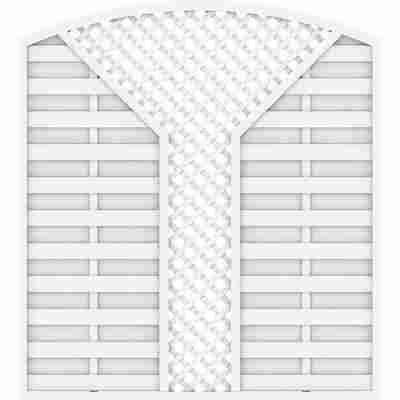 Zaunelement 'Longlife Romo' V-Gitter weiß 180 x 196 cm