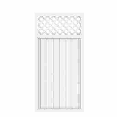 Zaunelement 'Longlife Riva' mit Gitter weiß 90 x 180 cm