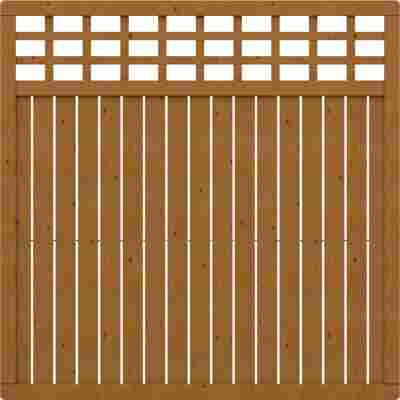 Zaunelement 'Como' mit Gitter braun 178 x 178 cm