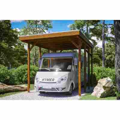 Caravan-Carport 'Friesland' 397 x 555 cm nussbaum