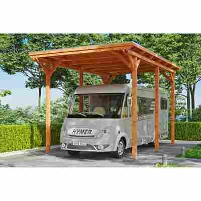 Caravan-Carport 'Emsland' 404 x 604 cm eiche hell