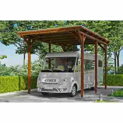 Caravan-Carport 'Emsland' 404 x 604 cm nussbaum
