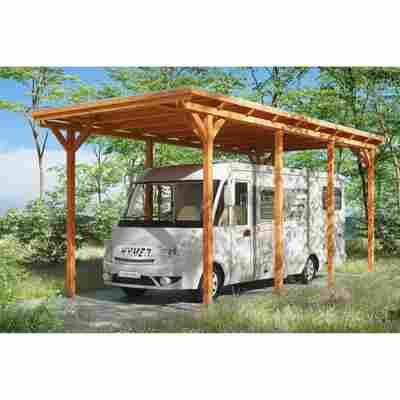 Caravan-Carport 'Emsland' 404 x 846 cm eiche hell