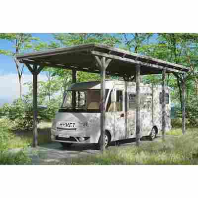 Caravan-Carport 'Emsland' 404 x 846 cm schiefergrau