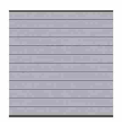 Zaunfeld-Set 'System WPC Classic' grau/anthrazit 178 x 183 x 2 cm