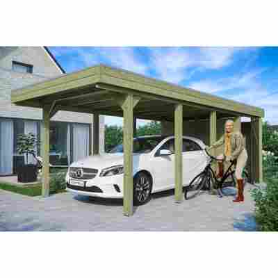 Carport 'Friesland' Set 2 m. Abstellraum 314 x 708 cm imprägniert