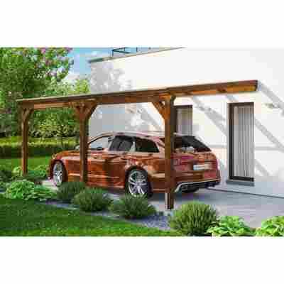 Carport 'Vogtland' 300 x 541 cm nussbaum