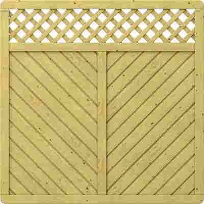 Zaunelement 'Gada' mit Gitter braun 179 x 179 cm