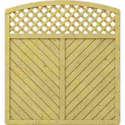 Zaunelement 'Gada' mit Gitter gebogen braun 179 x 179 (193) cm