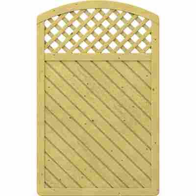 Zaunelement 'Gada' mit Gitter gebogen braun 119 x 179 (193) cm