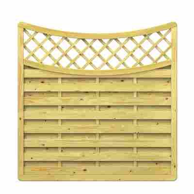 Zaunelement 'XL' geschwungen mit Gitter 179 x 179 (165) cm