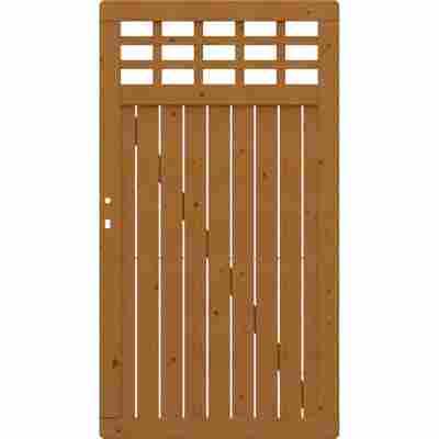 Einzeltor 'Como' mit Gitter DIN rechts/links braun 98 x 179 cm