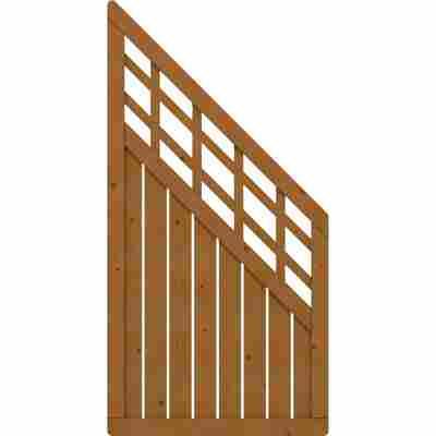 Zaunelement 'Como' mit Gitter braun 89 x 178 auf 89 cm
