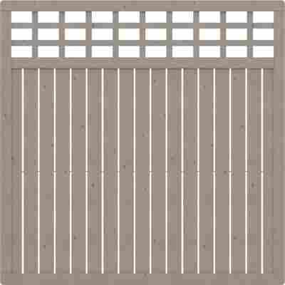 Zaunelement 'Como' mit Gitter grau 178 x 178 cm