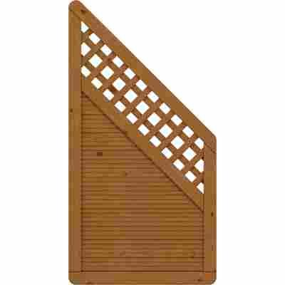 Zaunelement 'Arzago' mit Gitter braun 90 x 179 auf 90 cm