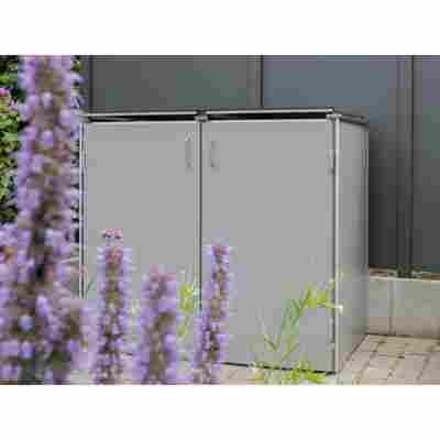 Müllbox-System 'Binto HPL' grau 125 x 149 x 87 cm, 2er-Variante