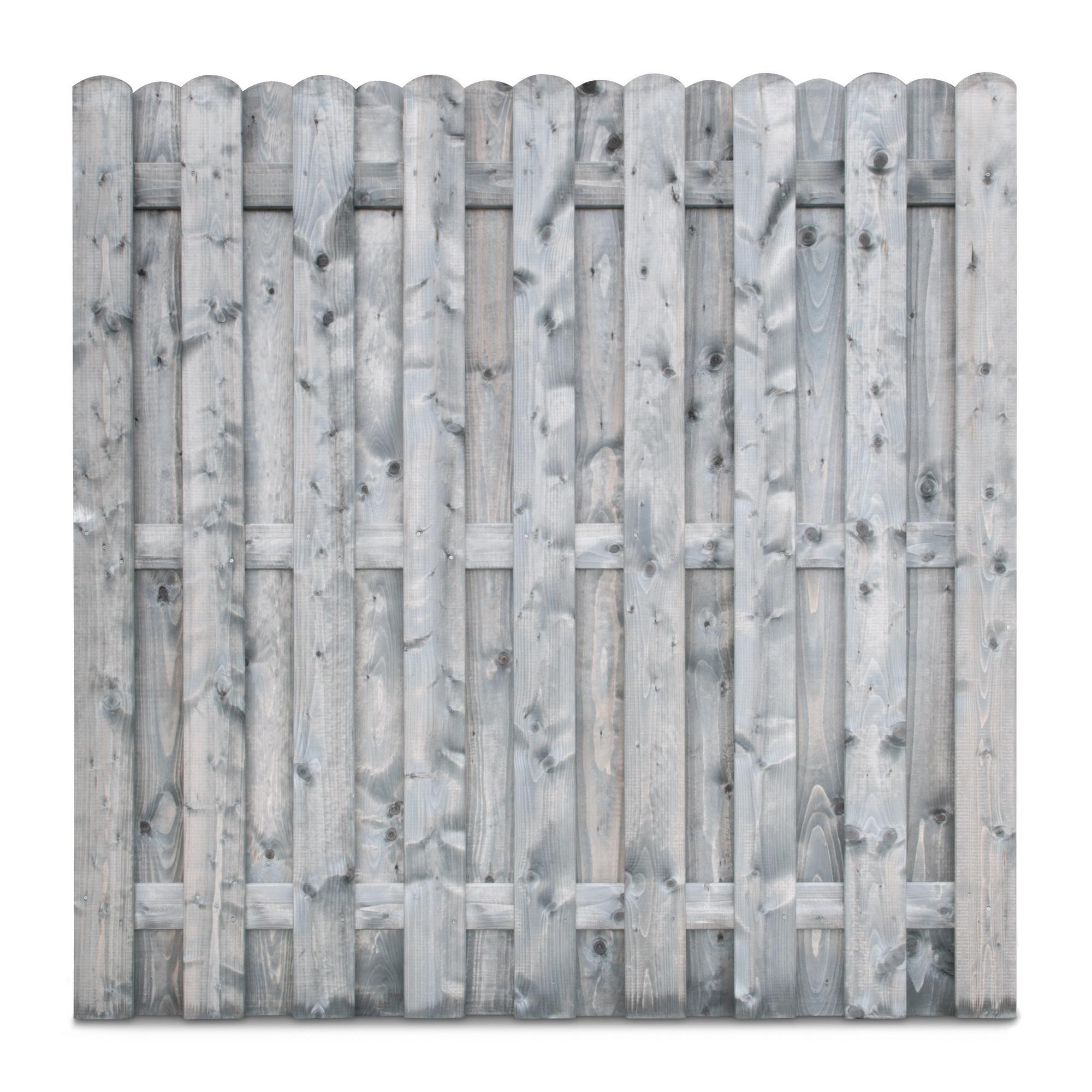 Bohlenzaun Nadelholz Grau Lasiert 180 X 180 Cm ǀ Toom Baumarkt