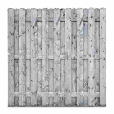 Bohlenzaun, Nadelholz, grau lasiert, 180 x 180 cm
