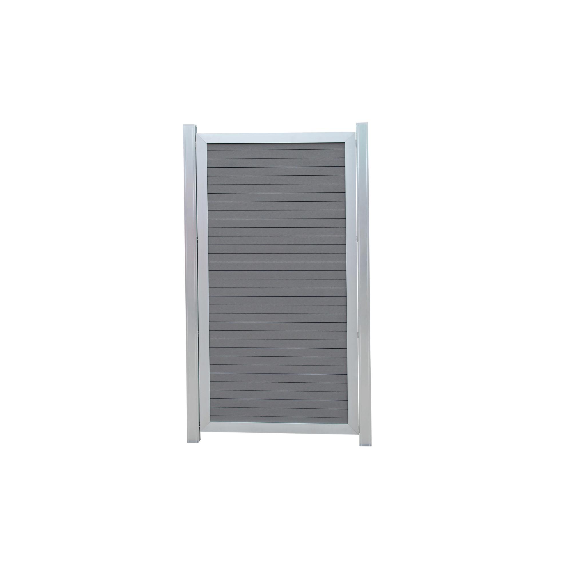 Wpc Zaun Halbelement Aluminiumrahmen 90 X 175 Cm ǀ Toom Baumarkt