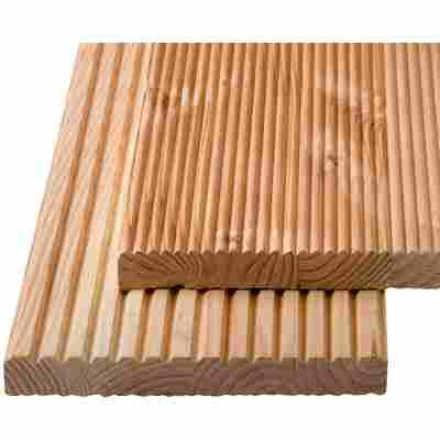 Terrassendiele 'Living-Deck' Douglasie, genutet/gerundet 200 x 2,6 x 20 cm, 5 Stück