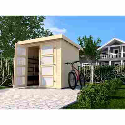 Gartenhaus '321' 254 x 250 cm, naturfarben