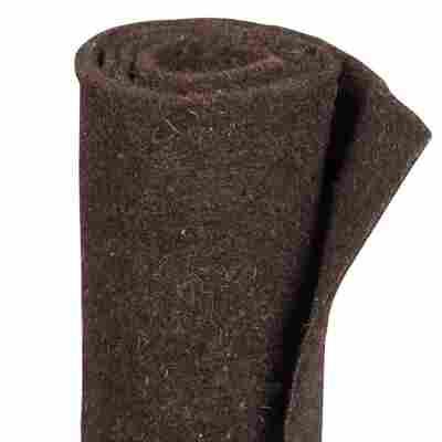 Winterschutz-Schafwollmatte dunkelbraun 150 x 50 cm