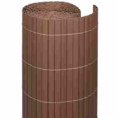 Sichtschutzzaun 'Rügen' nussbaumfarben 140 cm