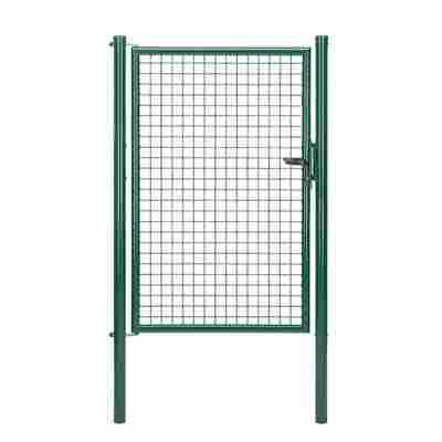 Einzeltor 'Wellengitter' grün 100 x 150 cm, mit Pfosten