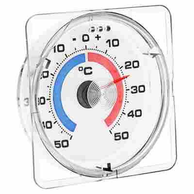 """Fensterthermometer """"Transparent"""" mit Wandhalterung"""
