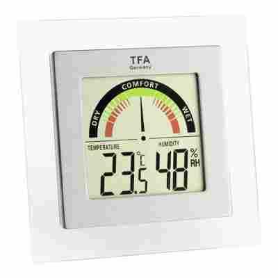 Thermo-Hygrometer eckig mit Digitalanzeige