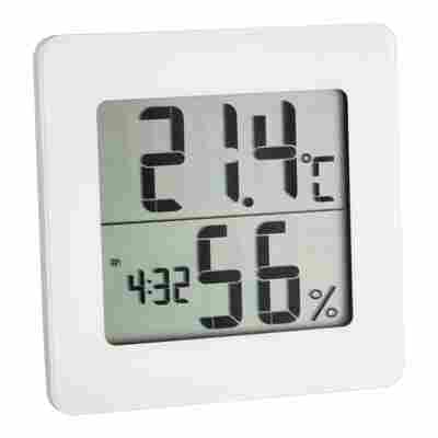 Thermo-Hygrometer weiß 9,4 x 9,4 cm