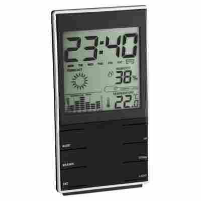 Elektronische Wetterstation Innen Kunststoff 14 cm schwarz