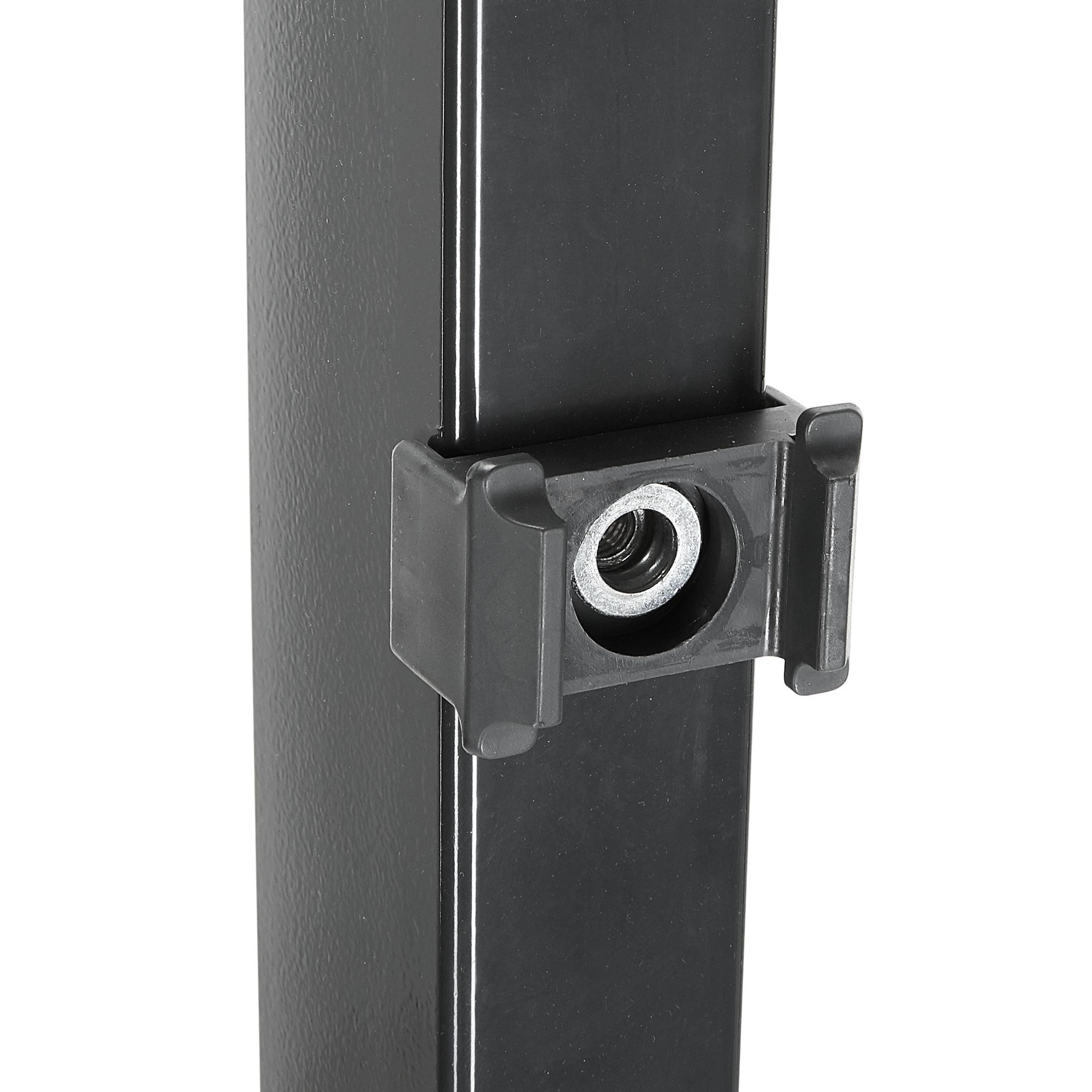 Pfosten Doppelstabmattenzaun Anthrazit 4 X 170 X 6 Cm ǀ Toom Baumarkt