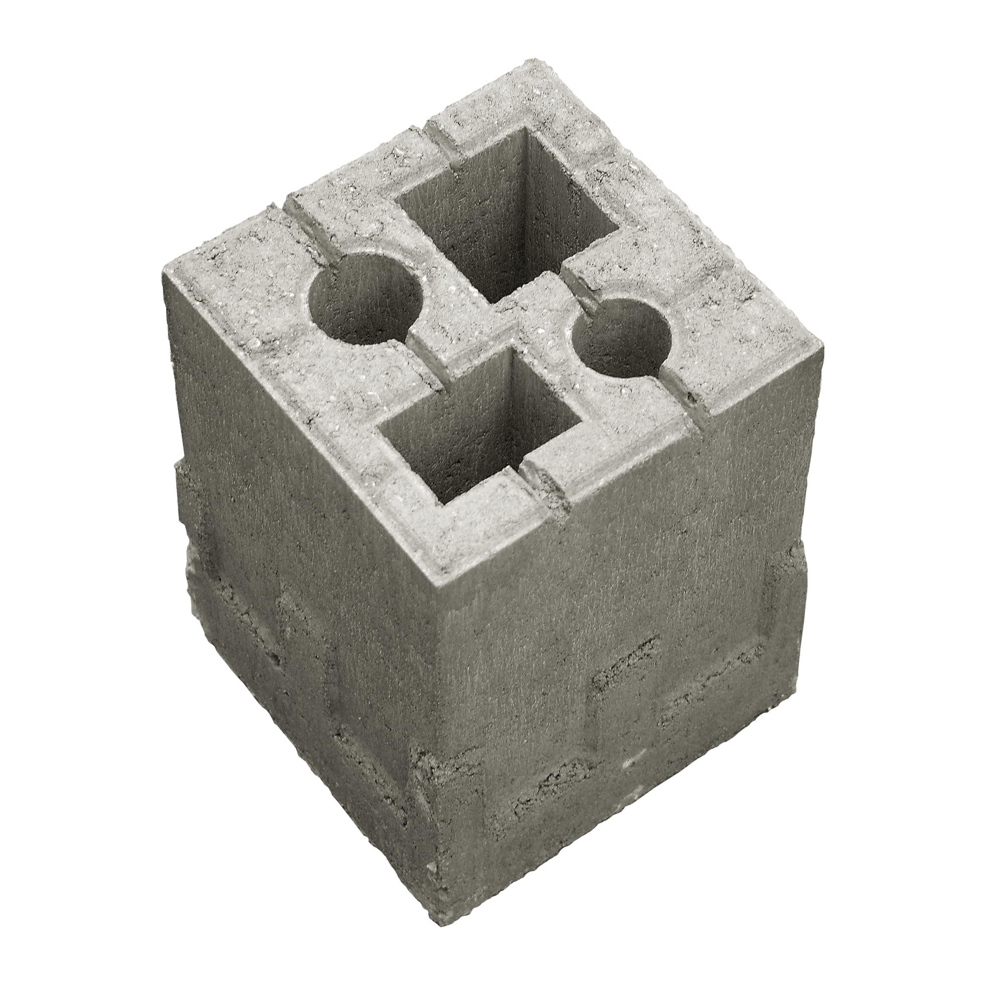 zaun-fundament-stein 19 x 19 x 25 cm ǀ toom baumarkt