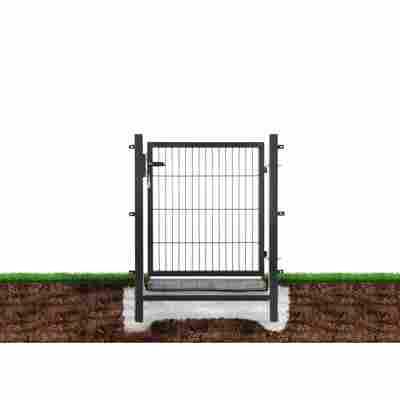 Gartentor 'Easy' anthrazit, einflügelig 100 x 100 cm
