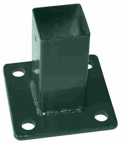 Aufschraubhülse für Pfosten grün 12,5 x 12,5 cm