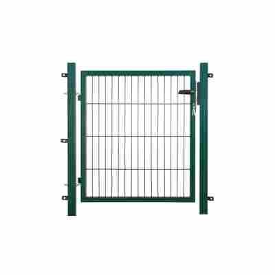 Gartentor grün, einflügelig 100 x 180 cm