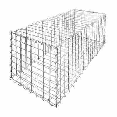 Korbgabionen-Set quadratisch 40 x 40 x 40 cm