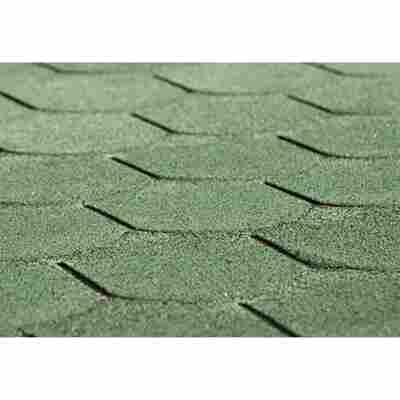 Bitumen-Dachschindeln Biberschwanzform 3 m² grün