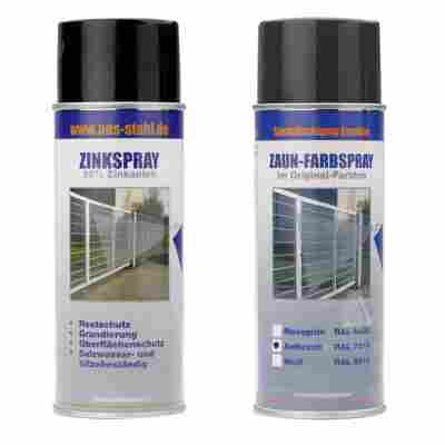 Zinkspray und Farbspray Set anthrazit à 400 ml