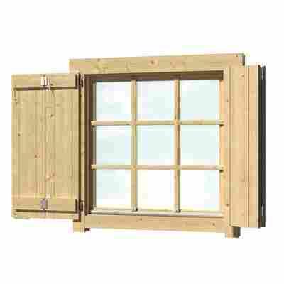 Fensterladen 'Spiekeroog' naturfarben 88 x 88 cm