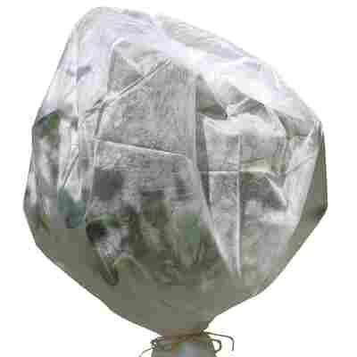 Winterschutz-Vlieshaube mit Reißverschluss weiß 80 x 60 cm 2 Stück