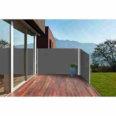 Doppel-Seitenmarkise anthrazit 600 x 160 cm