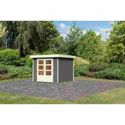 Gartenhaus 'Dornhan 3,5' Flachdach 242 x 246 x 211 cm, terragrau