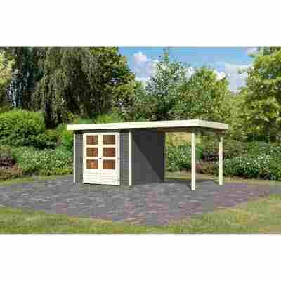 Gartenhaus 'Dornhan 3,5' Flachdach Set 1, 242 x 246 x 211 cm, terragrau