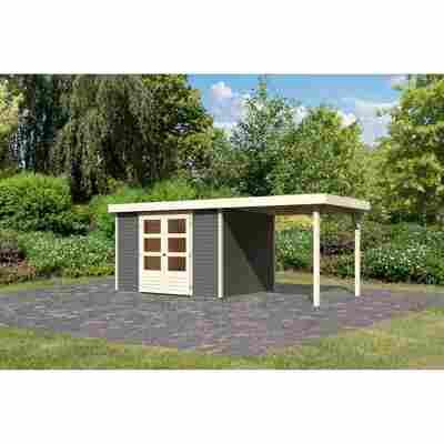 Gartenhaus 'Dornhan 5' Flachdach Set 1 302 x 246 x 211 cm, terragrau